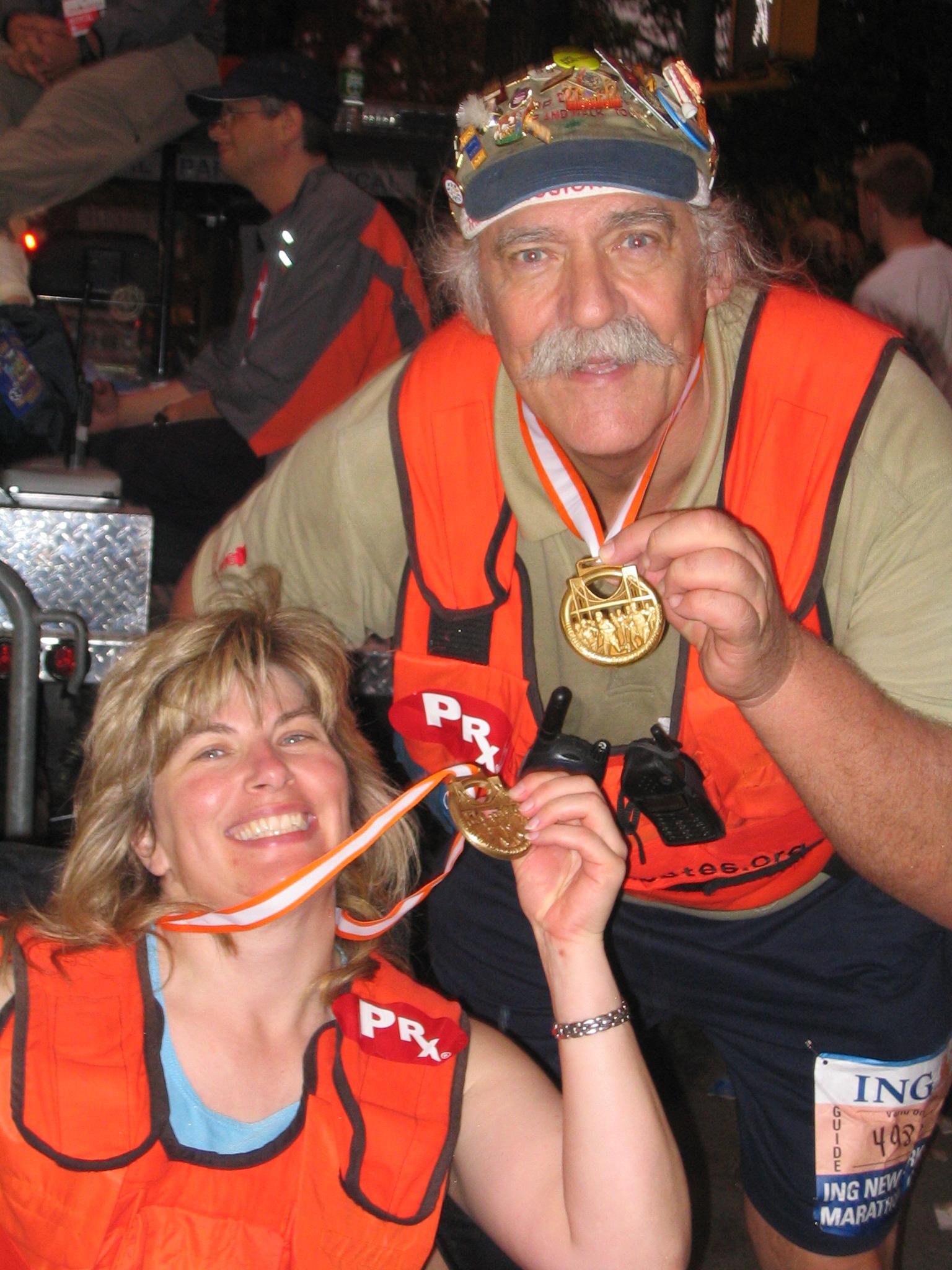 Mr D w Ellen and medals
