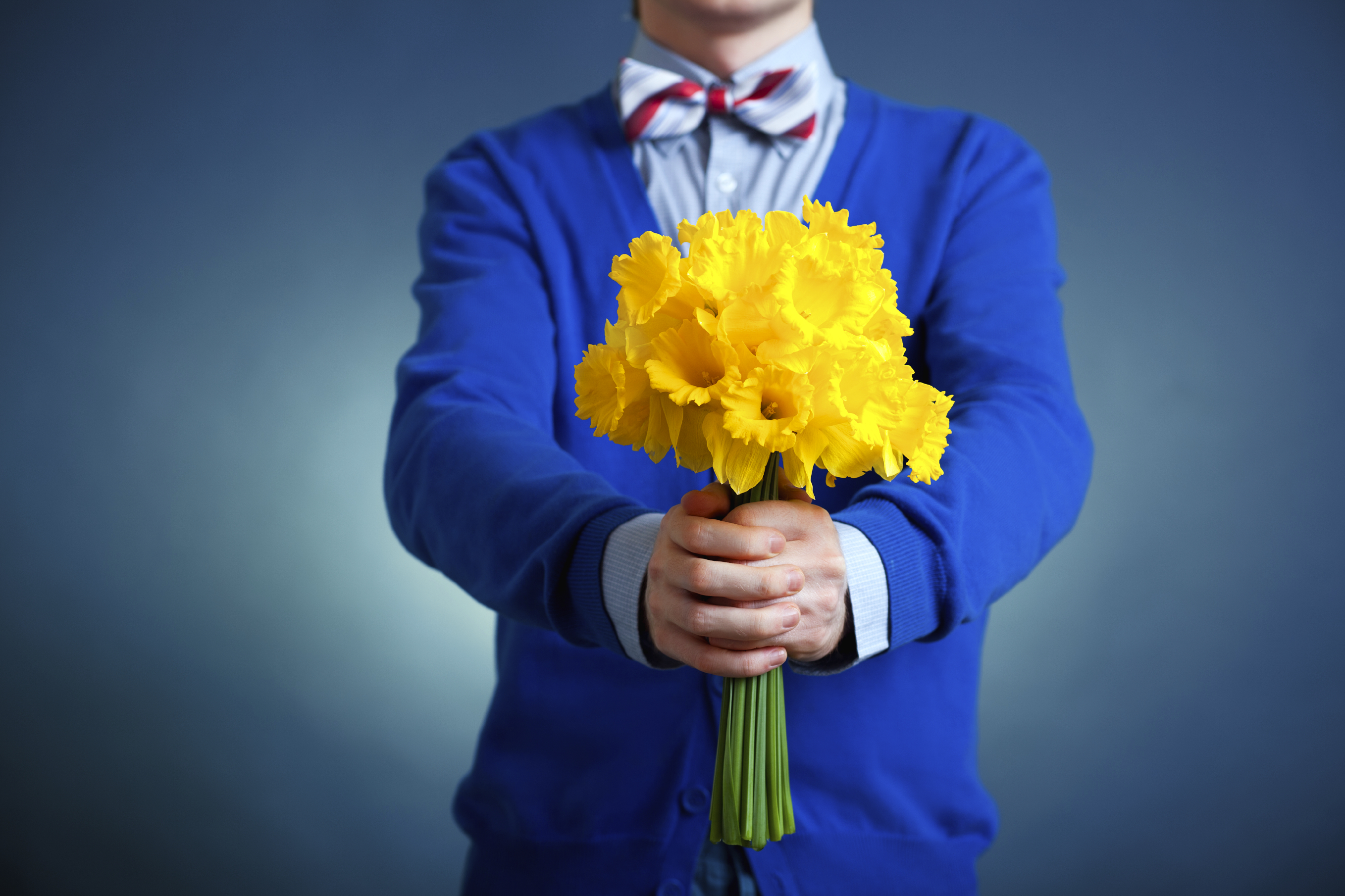 Image result for giving flowers