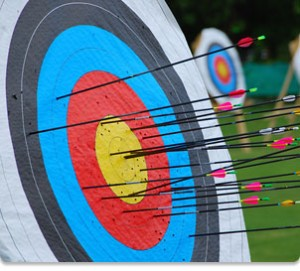Physical activity - archery target