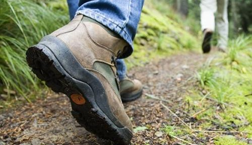 Physical activity  hiking boot