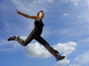 Physical Activity -leaping girl
