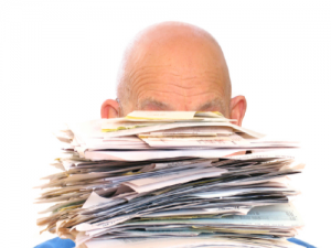 Cropped Piled in Paperwork