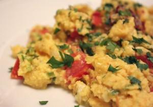food - scrambled egg